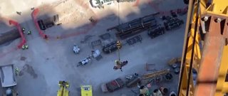 Injured worker rescued using crane at Resorts World site