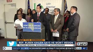 Rep. Ruben Kihuen insists he will not resign - Video