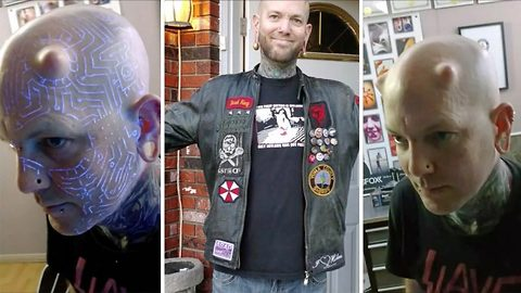 'I am a Transhumanist, I evolve with time and technology': Body modification artist showcases alterations he's done to his body since the age of five