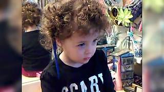 """""""Comb Got Stuck In Toddler Girl's Wild Curly Hair"""""""