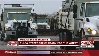 City of Tulsa adds street maintenance crews to prepare for winter weather - Video