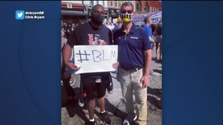 Michigan football staff, including Jim Harbaugh, join protest against police brutality