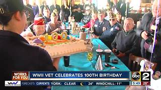 World War II veteran celebrates 100th birthday - Video