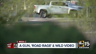 Witness video shows armed Mesa road rage suspect confront victim