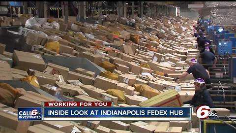 Indianapolis has the second-largest FedEx hub in the U.S. Take a look inside.