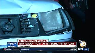 Child struck by vehicle in Encanto - Video