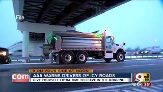 AAA warns drivers of icy roads - Video