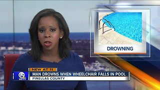 Florida man drowns when wheelchair falls into backyard swimming pool