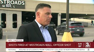 Police officer shot at Westroads Mall