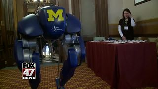 U of M robot visits State Capitol - Video
