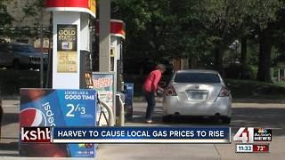 KC gas prices may spike in Hurricane Harvey's wake - Video