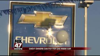 Chevy owners can pay for gas from inside their cars - Video