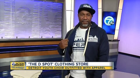 The Detroit Youth Choir outfitted with 'The D Spot' apparel