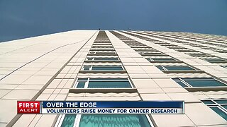 Over the edge: Volunteers raise money for cancer research