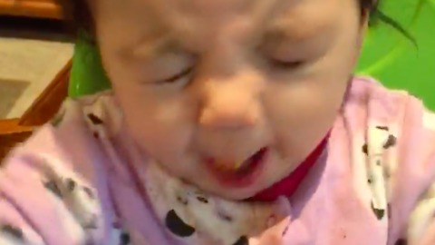 Baby Has Priceless Reaction After Trying Sweet Potatoes For The First Time