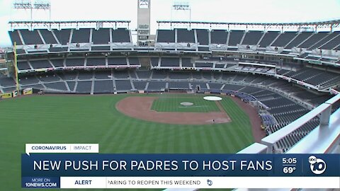 New push for Padres to host fans amid pandemic