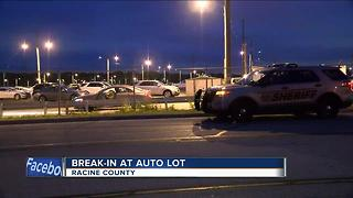 Break-in attempted at Racine auto lot - Video