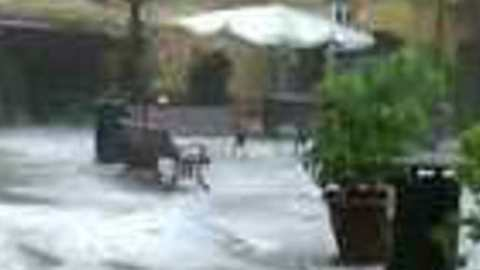 Severe Hailstorm Turns Streets Into Icy Rivers in Orta San Giulio