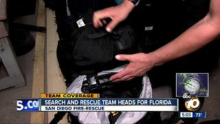 San Diego search and rescue team heads for Florida - Video
