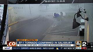 NWS confirms EF-1 tornado in Salisbury - Video