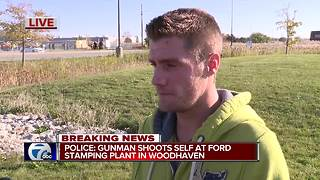 Woodhaven stamping plant employee on shooting - Video