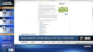 Restaurants offer deals for Tampa Bay Taco Takeover 2021