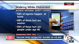 Walking While Distracted injuries on the rise - Video