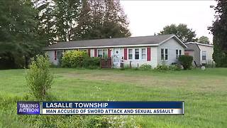 Man accused of sword attack - Video