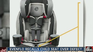 Evenflo recalls child seat over defect - Video