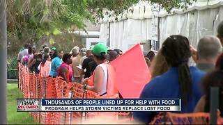 Thousands lined up for help with food - Video