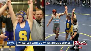 Wrestler with Down Syndrome Shines - Video