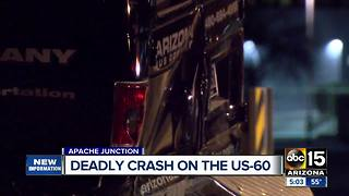 Crash on  US 60/Gilbert leaves 1 dead, dozens injured - Video