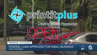 Royal Pam Beach small business owners receives loan 6 weeks after applying