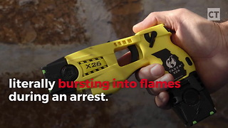 Man Bursts Into Flames After Police Fire Taser Gun - Video