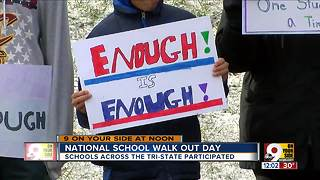 Tri-State students participate in walkout - Video