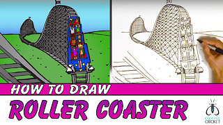 How to Draw a Roller Coaster Step by Step