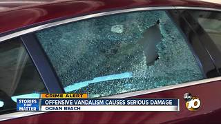 Offensive vandalism causes serious damage - Video