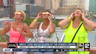 About 3,000 people watch eclipse from Maryland Science Center - Video
