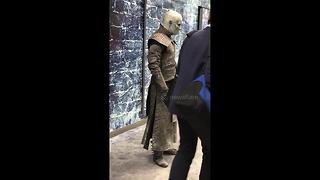 White Walker poses for selfies at London station - Video