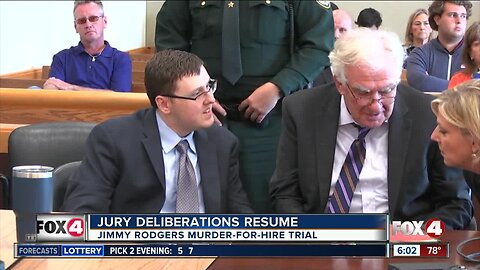 Jury deliberation resuming Wednesday in Jimmy Rodgers murder trial