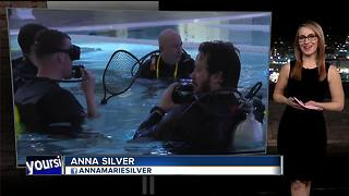 Veterans and first responders scuba dive as therapy