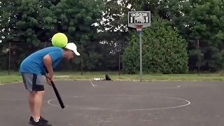 Football pro shows off his incredible trick-shots - Video