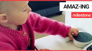 Baby who is obsessed with Amazon Echo says her very first word - Alexa