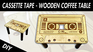 DIY coffee table: Wooden cassette tape