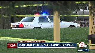 Man shot at Tarkington Park on Indy's north side - Video