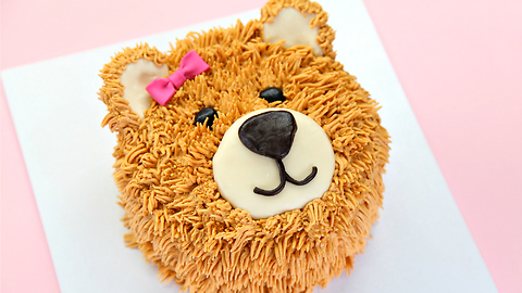 The cutest teddy bear cake on Earth