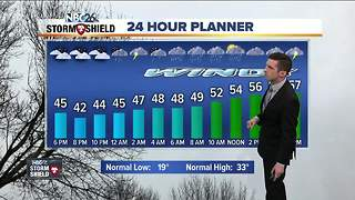 Potent storm system bring rain and wind Monday - Video