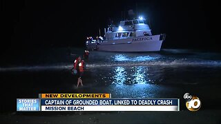 Captain of grounded boat, linked to deadly crash