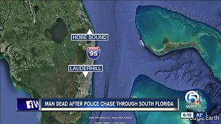 Man dead after police chase through South Florida