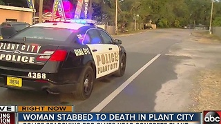 Woman fatally stabbed in Plant City - Video